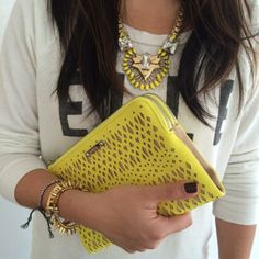 Yellow accessories today!