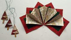 fold'n stitch wreath - piecing it together