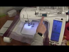 Learn how to use an Innovis including loading designs from USB, resizing designs, skipping forward and backward and rotating designs. Brother Embroidery Machine, Machine Embroidery Projects, T Shirt Tutorial, A Brother, Different Stitches, Fun Projects, I Card, Pattern Design, How To Find Out