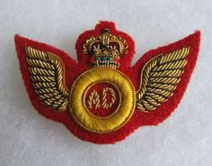 Bullion embroidered dress wing.   eBay! British Army, Badges, Wings, Brooch, Ebay, Dresses, Vestidos, Badge, Brooches