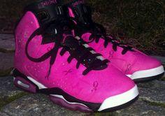 reputable site 617d9 1509f Breast Cancer Awareness Air Jordan VI Shoes by Da Prince Customs