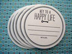 Typographie Coaster Set - clé d