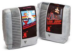 Retro Video Game Cartridge Pillow Set of 2 NES