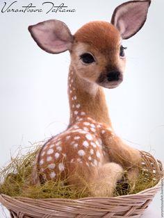 Felted Deer | Оленёнок Тауриель – купить в интернет-магазине на Ярмарке Мастеров с доставкой