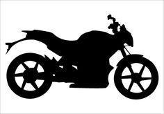 Motorbike Silhouette Vector on Road for Motorized Extreme Sports >> Silhouette Graphics