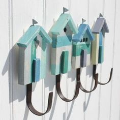 Beach Hut Hooks - set of four