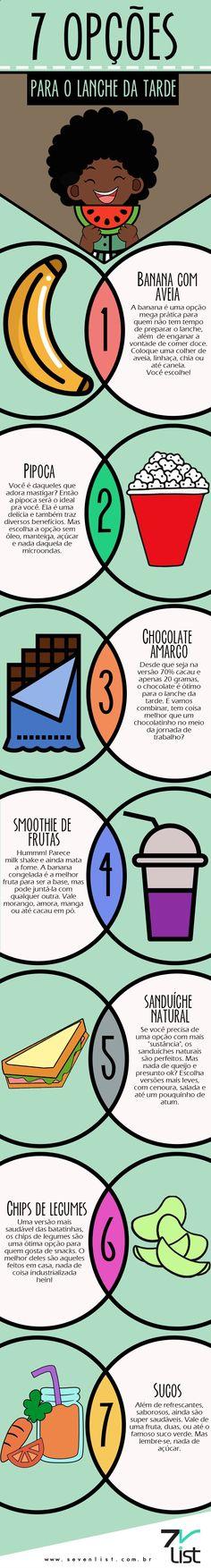 #SevenList #Art #Infográfico #Lanche #Food #Alimentação #Dieta #Dicas #Pipoca…