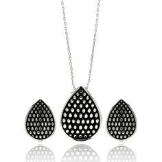 Nickel Free Brass Pendant & Earring Sets Teardrop With Dots Rhodium Plated Brass Set Pendant: 19.1mm X 25.5mm Earring: 17.75mm X 13.16mm Double Accent. $24.99. Save 65%! Brass Pendant, Pendant Earrings, Necklace Set, Stud Earrings, Fine Jewelry, Women Jewelry, Black Rhodium, Wedding Jewelry Sets, Earring Set