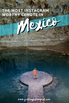 A complete guide to visiting Cenote Suytun – The Most Instagrammable Cenote in Mexico. Located within driving distance of Tulum, Cancun and Playa Del Carmen, Suytun ticks all the boxes when it comes to cenotes - blue water, located in a cave, and perfect for a swim. Bucket list travel in Mexico. | Getting Stamped - Couple #Travel & #Photography #Blog | #Travel #TravelTips #TravelGuide #Wanderlust #BucketList #Mexico #Tulum #Cenote #Cancun