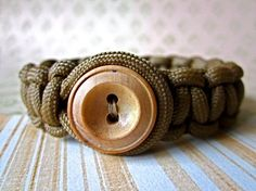 Paracord Bracelet. I think this is what I am going to wear next deployment instead of his tags