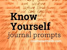 know yourself journal prompts