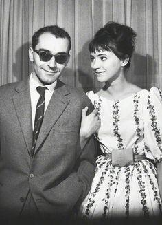 Jean-Luc Godard and Anna Karina, Berlin International Film Festival 1961.