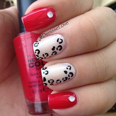 red and white leopard