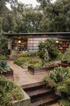 Garden Plans Arroyo Seco by Elysian Landscapes « Landscape Architecture Platform Indoor Outdoor Living, Outdoor Spaces, Myriad Gardens, Minimalism Living, Landscape Design, Garden Design, Mediterranean Plants, Home Landscaping, Mid Century Landscaping
