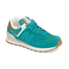 Women's New Balance 574 Global Surf Sneaker (110 NZD) ❤ liked on Polyvore featuring shoes, sneakers, galapagos, new balance trainers, suede sneakers, new balance, new balance sneakers and new balance shoes