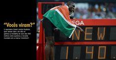 O queniano David Lekuta Rudisha quer deixar claro: ele não só ganhou a medalha de ouro dos 800 metros como quebrou o recorde mundial com a marca 1min40s91