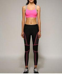 a2025f071e New Running Yoga Pants Winter Girls Workout Sport Slim Fitness Sports Women  Gym Lines Sweatpants Leggings For Female
