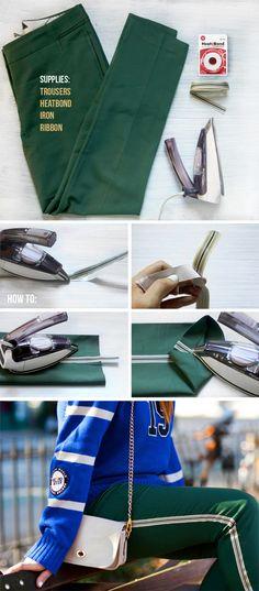DIY: side stripe trouser