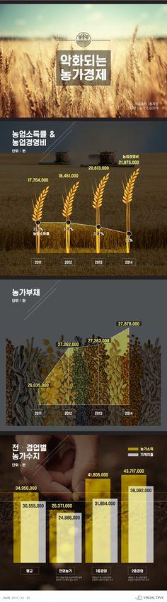 농업 '경영비'는 증가, '소득률'은 하락… 농가경제 '빨간불' [인포그래픽] #agriculture / #Infographic ⓒ 비주얼다이브 무단 복사·전재·재배포 금지