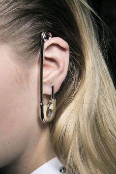 Viktor + Rolf Safety Pin Earrings