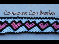Pulsera de Hilo: Corazones con Borde - YouTube