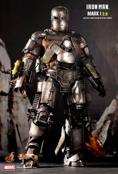 Hot Toys : Iron Man - Mark I (2.0) 1/6th scale Limited Edition Collectible Figurine