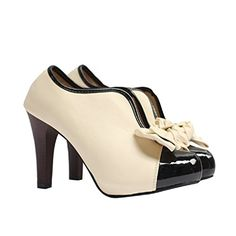 Hanxue Women's Bowknot High Heels Dress Pumps Shoes Ankle Boots -- Awesome products selected by Anna Churchill