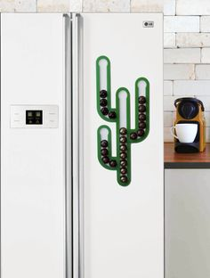 Cactus Magnetic Nespresso Coffee Capsules Holder Holds 35 Nespresso Pods storage Coffee Nespresso Pod Stand kitchen decor Housewarming Gift USD) by mysheyne Coffee Pod Storage, Coffee Pod Holder, Coffee Pods, Capsule Dolce Gusto, Green Cactus, Coffee Corner, Interior Exterior, Decoration, Home