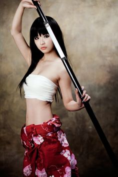 Beautiful Asian Girl and Katana, Samurai Katana Samurai, Samurai Girl, Female Samurai, Samurai Swords, Kendo, Warrior Girl, Warrior Princess, Warrior Spirit, Kung Fu Poses