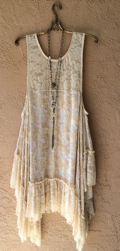 Image of Stevie Nicks Velvet and lace gypsy bohemian beach bride dress