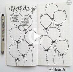 Bullet Journal Collection Ideas – Huge List of Our Favourites! #bulletjournal Bullet Journal Disney, Birthday Bullet Journal, Bullet Journal Hacks, Bullet Journal Writing, Bullet Journal Spread, Bullet Journal Layout, Journal Pages, Journal App, Bullet Journals
