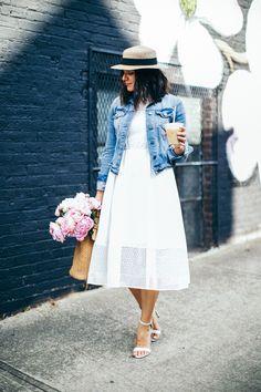 Pink Peonies, summer outfit ideas, white dress ideas - My Style Vita @mystylevita