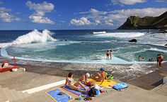 sea pool in the Azores