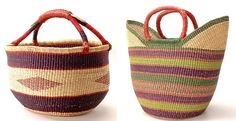 baskets from Ghana - I've been looking for something to carry plants, dance stuff, etc. in
