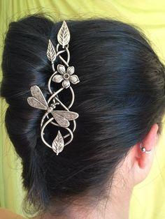 Epingle à cheveux La treille à libellule - Elemiah Delecto