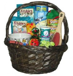 Gift basket for new cat owner...so easy to do also for new puppy owner, new parents, student at beginning of school year...etc., etc., etc.