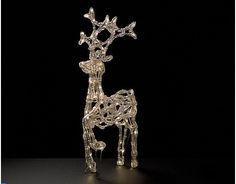 LED Ice Deer 60, Rentier 60x40x15cm, outdoor, 88 LED  #Weihnachtsbeleuchtung #LED #Santa