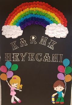 Top 40 Examples for Handmade Paper Events - Everything About Kindergarten Preschool Classroom Decor, Kindergarten Classroom, Preschool Crafts, Preschool Door, Class Door Decorations, Class Decoration, Rainbow Theme, Rainbow Birthday, Rainbow Heart
