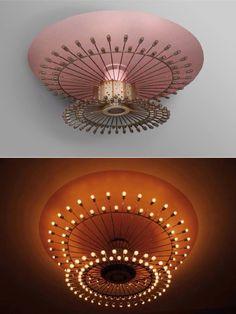 WOW! Amazing vintage pink light fixture