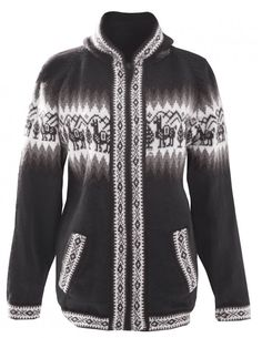 """These Flora hooded sweaters are handmade in Peru using alpaca wool. They are patterned with the traditional llama designs, and come in matching hues of warm colours. Alpaca wool is considered to be one of the world's few natural luxury fibres; the alpaca is in fact the only animal whose coat's fibre supplies softness, lightness,<a href=""""http://floragarments.com/product/peruvian-sweater-flora/"""">[...]</a>"""