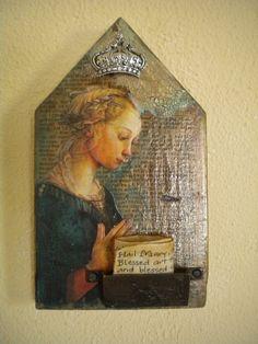 Prayer ShrineHail Mary by PritiStudio on Etsy, $59.00
