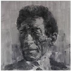 Reproduction éditée pour l'exposition de Yan Pei-Ming à la Fondation Maeght de novembre 2007 à mars 2008.    Yan Pei-Ming, qui peint principalement des portraits, utilise le plus souvent les nuances de noir, de gris et de blanc.