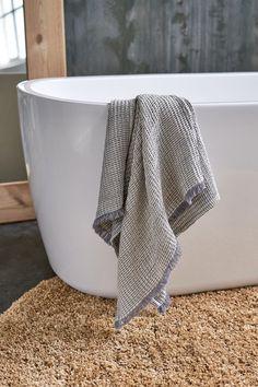Grey linen towel, waffle linen towel, melange towel, linen t