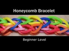 ▶ Rainbow Loom® Honeycomb Bracelet - YouTube