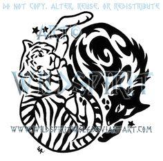 Wolf ying yang