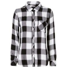 Rails Women's Buffalo Check Plaid Shirt (149,065 KRW) ❤ liked on Polyvore featuring tops, rails, shirts, plaid shirts, button up shirts, plaid button down shirt, long-sleeve shirt and long sleeve collared shirts
