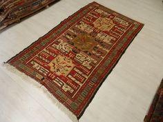 """Needle Embroidery Turkish Vintage Kilim Rug 3'7"""" x 6'6""""  Turkey Kilim Rug Turkish Kilim Embroidery Decorative Kilim Rug Bohemian Floor Rug"""