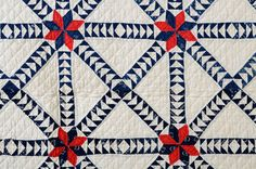Wild Goose Chase Quilt: Ca. 1880; Indiana