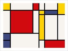 Excel sheet with coloured squares, it's Mondrian - mondrian ...