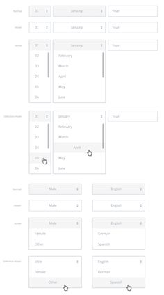 CMPLAIN UI by Leonardo Zakour, via Behance